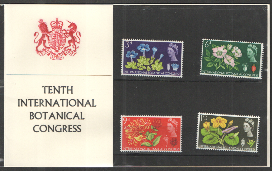 1964 Botanical Congress Type A - Fleur de Lys Collar Presentation Pack